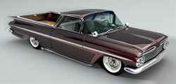 Computer generated image of a customized 1959 El Camino